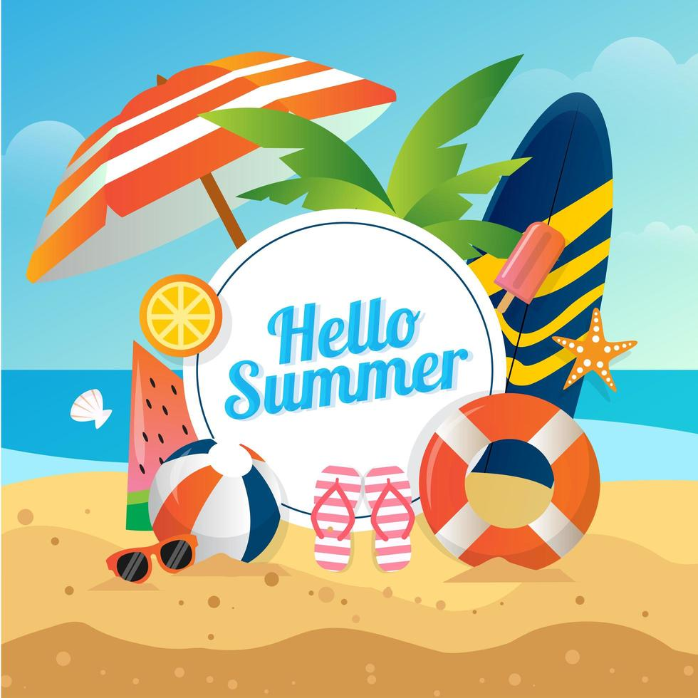 hello-summer-background-vector